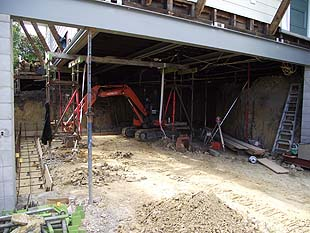 Under-house earthmoving works