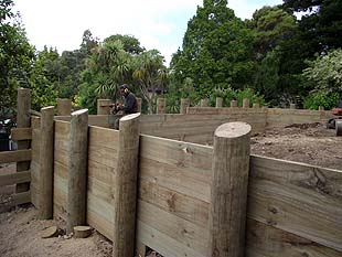 Timber Retaining Wall Design Example Image Gallery HCPR