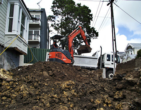 Earthmoving-basement-excavation-Auckland